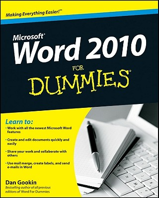 Word 2010 for Dummies By Gookin, Dan
